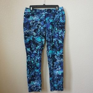 Mossimo Blue Printed Pants